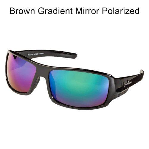 SolarBat Jimmy Houston 1 Brown Gradient Mirror - Solar Bat Sunglasses