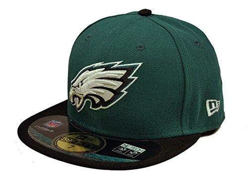 NFL Philadelphia Eagles On Field 5950 Game Cap, Midnight Green, 7 1/2