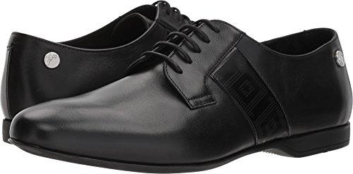 Versace Collection Men's Plain Toe Oxford w/Greco Trim Black 43 M EU (Versace Mens Collection)