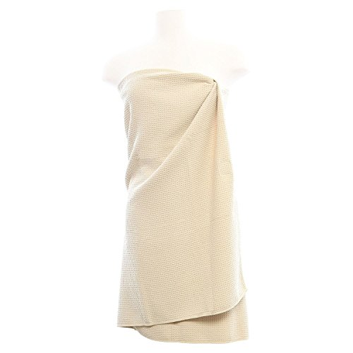 Aquis - Linen Waffle Body Towel, Ultra Absorbent & Fast Drying Microfiber Towel, Linen (29 x 55 Inches) ()
