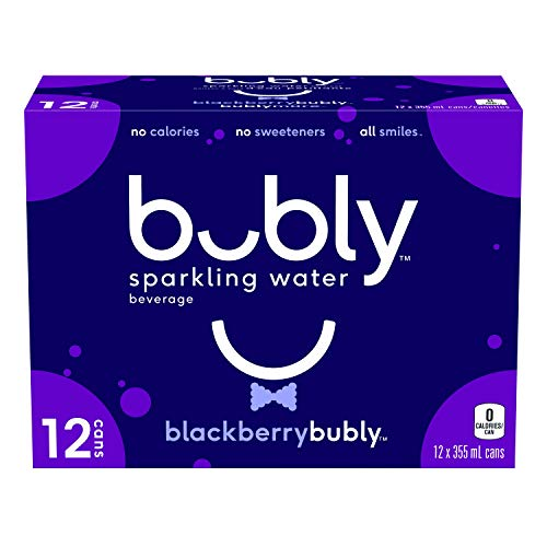 Bubly BlackBerry Sparkling Water Beverage, BlackBerry, 355 milliliters