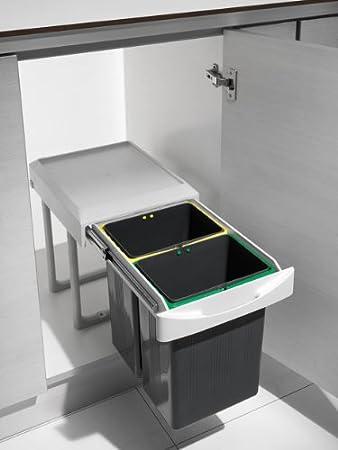 Küchen Einbau Abfalleimer Virtus-2, lichtgrau, 2x 7,5 Liter ...