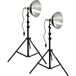 Impact Tungsten Two-Floodlight Kit with 6\' Stands