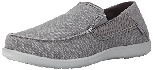 crocs Men's Santa Cruz 2 Luxe M Slip-On Loafer, Charcoal/Light Grey, 9 D(M) US