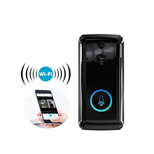 Video Smart Doorbell Wireless Security Camera with Two-Way Audio Real-Time Night Vision, Phone Ring, Free App for iOS and Android, Support Micro SD Card Motion Detection Remote - Unlock Card Microsd