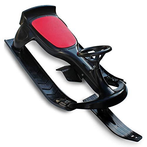 (Flexible Flyer PT Blaster Steering Ski Sled with Brakes. Plastic Snow Slider )
