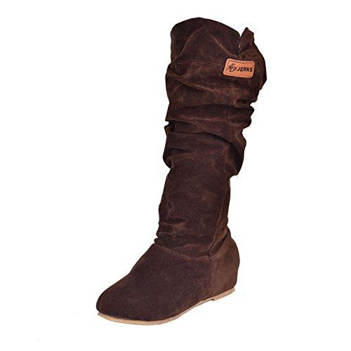 Bottes Neige Femelle de de Glacier Dames Q Grande croisées pour Femmes Neige Brown Sangles d'hiver Bottes Bottes Chaussures amp;Q Taille fx0npUq