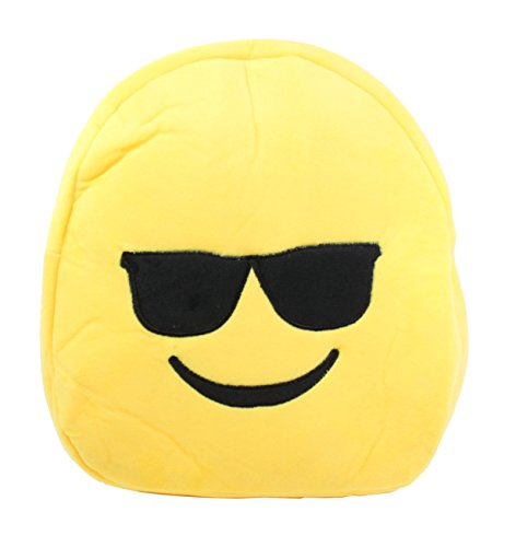 Cute Emoji Smiling Face With Sunglasses Kids Children Backpack Bag - Sunglasses Smiling With Face