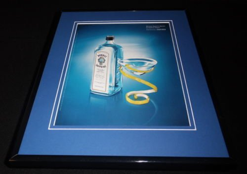 2004 Bombay Sapphire London Dry Gin Framed 11x14 ORIGINAL Advertisement C