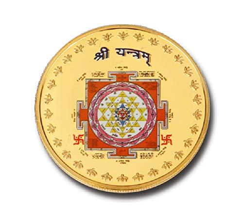 Aarya 24kt Gold Plated Colour Shreeyantra Coin