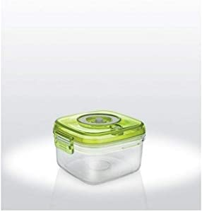 Small Square Vacuum Food Container with Hand Pump 23oz