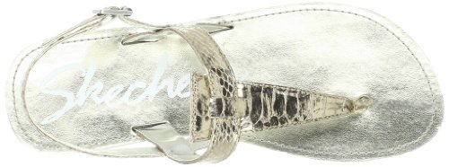 Skechers Cali Beach peinadoras Check Mate sandalia Light Gold
