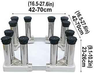 Base Universal para Lavadora y Secadora Antideslizante De AbsorcióN De Golpes Soporte y Bastidor para Lavadora Del Tambor Heightening Estante para Mueble Vinotecas (23-26cm)