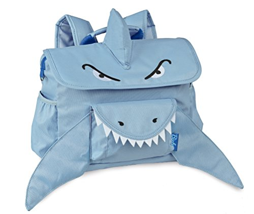 Bixbee Kids Backpack School Bag Shark, Blue, Small
