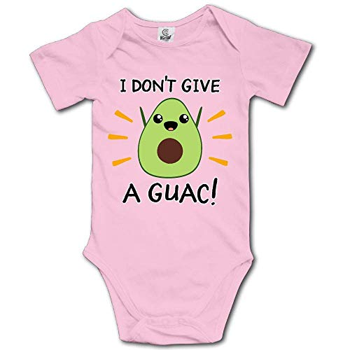 SDHEIJKY I Don't Give A Guac Baby Girls Boys Cotton Baby Bodysuits Casual Short Sleeve Baby Romper White