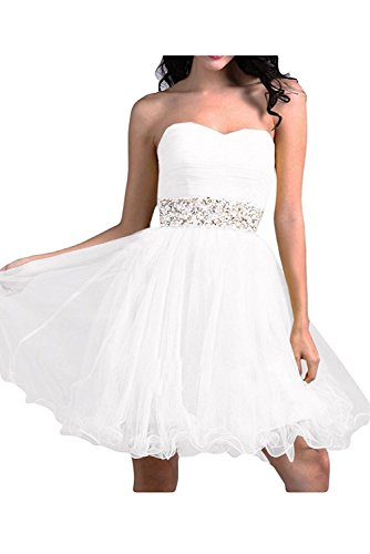 Weiß Linie Rock Partykleider A Braut Traegerlos Wassermelon Abendkleider Cocktailkleider Ballkleider Elegant mia La Mini OwqARTq