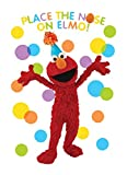 "Amscan Sunny Sesame Street Party ""Pin The Nose On Elmo"" Game (9 Piece), Multicolor, 24 1/2"" x 37 1/2"""