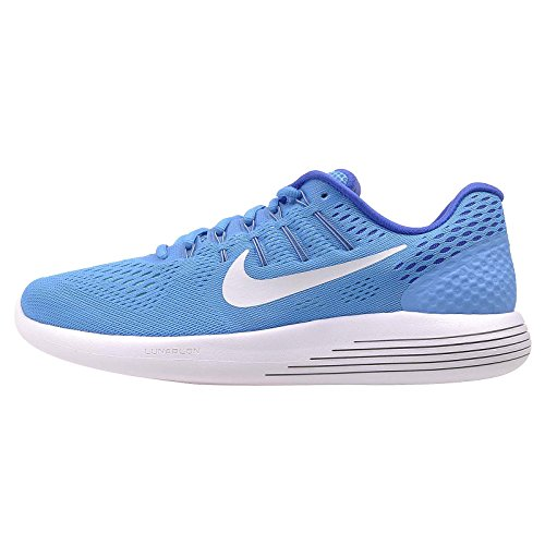 Nike Mens Lunarglide 8 Hardloopschoenen Blauw / Wit