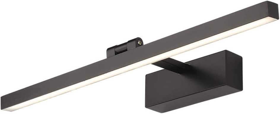 Color: Negro-40cm L/ámpara de espejo IP44 AC100-240V TIAN PAN 9W // 40 cmLED L/ámpara de espejo Luz blanca c/álida L/ámpara de gabinete de espejo Aplique de pared interior Clase energ/ética A ++