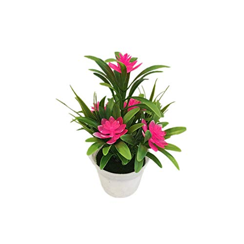 Artificial Flower Desktop Lifelike Simulation Bonsai Potted Plants Home Decorative Gift Office Fake Garden Store Party,Pink