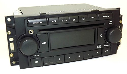 04-10 Chrysler AM FM CD Upgraded w Aux Input for iPhone Android REF P05091710AE (Mitsubishi Code Radio)