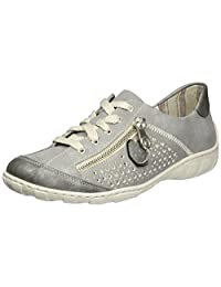 Rieker womens Low shoes lead/shark/old silver