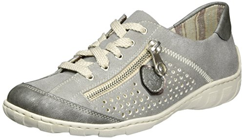 36 Rieker M3705 Femme Sneakers Gris EU Basses 1Zq1w
