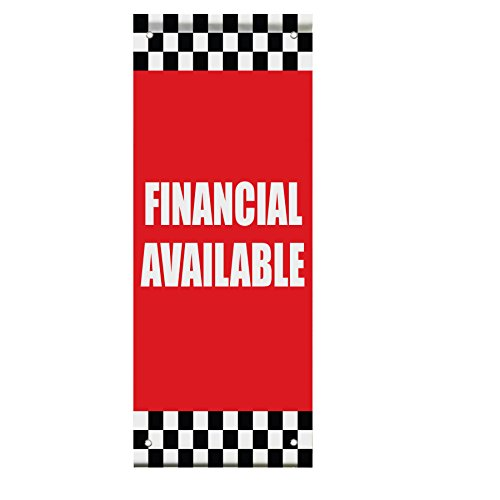 Financial Available Auto Body Shop Car Repair Double Sided Pole Banner Sign 24 In X 48 In W  Pole Bracket