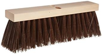 "Magnolia Brush 18"" Block Length, Brown Polypropylene Plastic Street Broom, (Carton of 6)"
