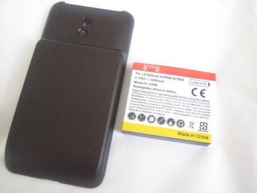 LG Optimus 2X P990 Extended 3500mAh Li-Ion Battery + Battery Door Cover ~ Mobile Phone Repair Parts Replacement (Lg Optimus 2x P990)