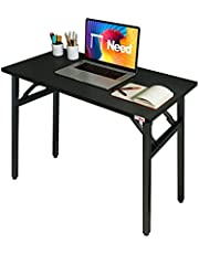 Need Folding Desk 80cm Length No Assembly Foldable Small Computer Table Sturdy and Heavy Duty Writing Desk for Small Spaces and -Damage Free Deliver