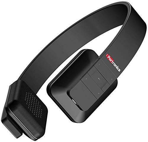 Portronics Muffs XT Wireless Bluetooth Headphone   Black