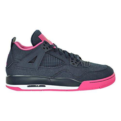 Jordan Air 4 Retro GG Big Kid's Shoes Dark Obsidian/Gold/Pink/White 487724-408 (7 M US) by Jordan