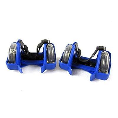 2M de patins ajustables pour chaussures avec lumière LED Bleu