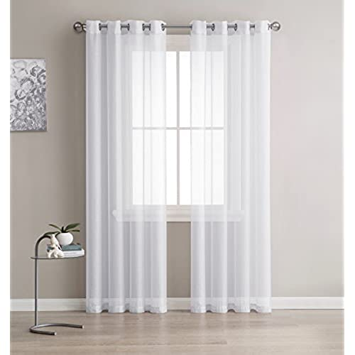 Grommet Semi Sheer Curtains