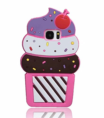 3D Cartoon Silicone Galaxy S7 Edge Case, Adorable Animals Cartoon Characters Design Soft Rubber Cover for Samsung Galaxy S7 Edge G9350