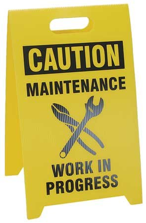 Flr Safety Sign, Caution Maintenance Work