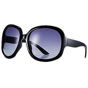 Pro Acme Oversized Polarized Sunglasses for Women   100% UV Blocking   5 Colors (Black)