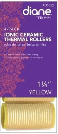 (Diane 4 Pack Self Grip Ionic Ceramic Thermal Rollers * Yellow 1-1/4-inch)