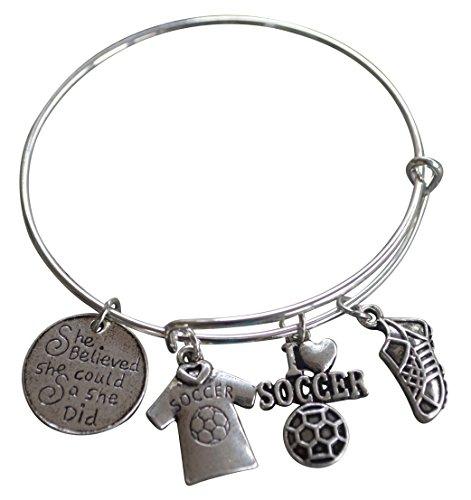 Soccer Bracelet, Soccer Jewelr