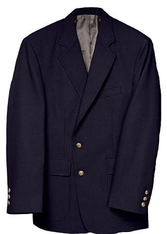 Edwards Garment Men's Classic Two Button Single Breasted Blazer, DARK NAVY, 52 R - Breasted Navy Blazer
