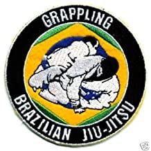 "Brazilian Jiu Jitsu Grappling Embroidered Iron/Sew on Patch 3.5"" BJJ Grappling Gi Badge"