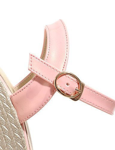 ShangYi Womens Shoes Patent Leather Wedge Heel Peep Toe / Platform / Open Toe Sandals Party & Evening / Dress / White / Black