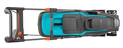 guidon rabattable poign/ée ergonomique Tondeuse /électrique PowerMax 1400//34 de GARDENA/:  tondeuse /à gazon jusqu/à 400 m/² 5034-20 capacit/é 40 l largeur de coupe 34 cm hauteur de coupe 20 /à 60 mm