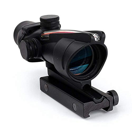 wipboten ACOG Rifle Scope 4x32 True Fiber Red Illuminated Crosshair BDC Gun Scopes