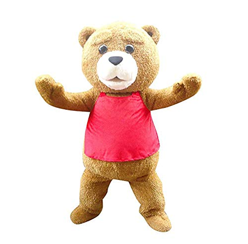 Teddy Bear Ted Mascot Costume Adult Halloween Costume Brown -