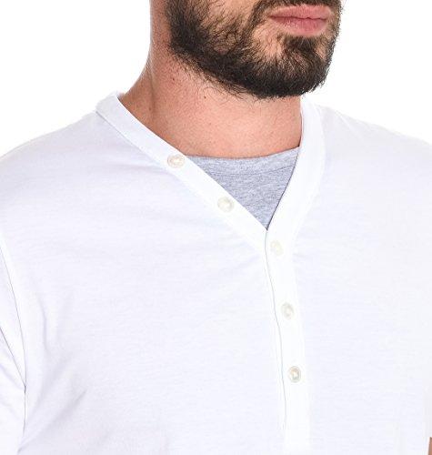 Eleventy Herren 979PO0018POL190051 Weiss Baumwolle T-Shirt