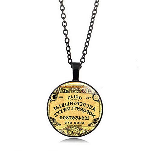 Mikash Christmas Halloween Gift Cabochon Tibetan Silver Glass Chain Pendant Necklace | Model NCKLCS - 42566 |]()