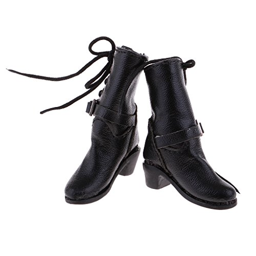 B Baosity 1/6 Woman High Heel Shoes Boots PU fo 12inch Dragon Action Figures Toys Body DZrWsi