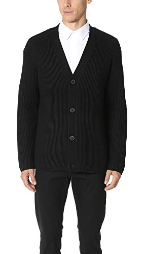 Theory Men's Oversized Cardigan, Black, L